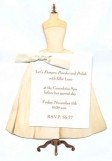 Ivory Wedding or Deb Gown Invitation