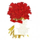 Red Rose Bouquet Invitation