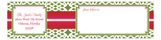 Star Burst Envelope Wrap Address Label