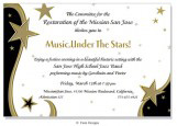 Starlight Black, Gold and Gold Invitation