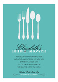 Sterling Shower - Blue Invitation