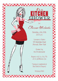 Stock the Kitchen Retro Housewife Bridal Shower Invitations