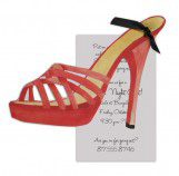 Strappy Red High Heel Invitation