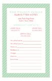 Striped Babysitter Notepad