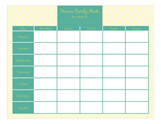Striped Meal Planner Calendar Pad