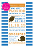 Stripes Football Tailgate Invitation