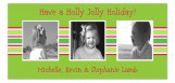 Stripes of Holiday Photo Card