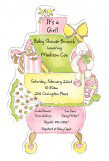 Stroll In The Park Pink Die-cut Invitation