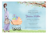 Strolling Mom Invitation