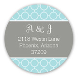 Stylish Aqua Collage Round Sticker