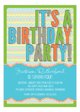 Stylish Chevron Boy Invitation