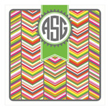 Stylish Chevron Multi Monogram Square Lucite Tray Insert