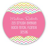 Stylish Chevron Round Sticker