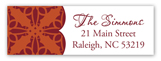 Stylish Fall Address Label