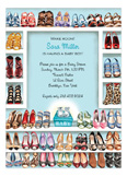 Stylish Shoe Closet - Baby Boy Invitation