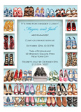 Stylish Shoe Closet - Engagement Invitation