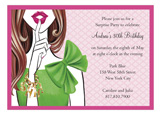 Stylish Surprise - Brunette Invitation