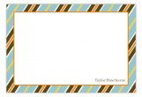Subtle Stripes Flat Note Card
