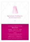 Sugar and Spice Girl Princess Shower Invites