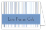 Sugar N Stripe Blue Note Card