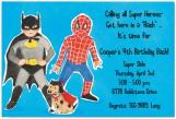 Super Friends Invitation