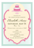 Sweet Beginnings Wedding Shower Invitations