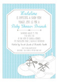 Sweet Blue Baby Shoes Boy Shower Invites