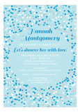 Sweet Blue Heart Shower Invitation