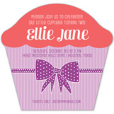 Sweet Bow Cupcake Invitation