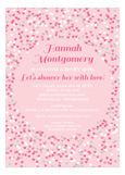 Sweet Pink Heart Shower Invitation