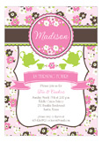 Sweet Pink Tea Time Invitation