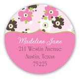 Sweet Pink Tea Time Round Sticker