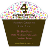 Sweet Sprinkles Cupcake Invitation