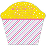 Sweet Stripes Cupcake Invitation