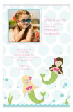 Swimming Mermaids Photo Card