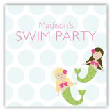 Swimming Mermaid Party Sticker