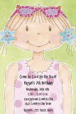 Swimming Pixie Pool Party Invitations