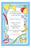 Swimming Fun Kids Pool Party Invitations