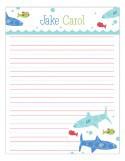 Swimming Sharks Notepad