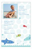 Swimming Sharks Photo Card