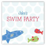 Swimming Sharks Swim Party Sticker