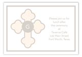 Tan Monogram Cross Enclosure Card