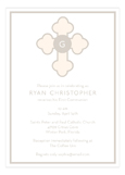 Tan Monogram Cross