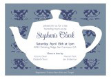 Tea Time Blue Invitation
