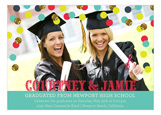Teal Confetti Glitter Grad Photo Card