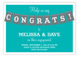 Teal Congrats Party Banner Invitation