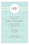 Teal Damask Monogram Invitation