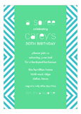 Teal Graphic Invitation