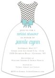 Teal Modern Chevron Invitation