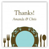 Teal Plated Dinner Gift Tag